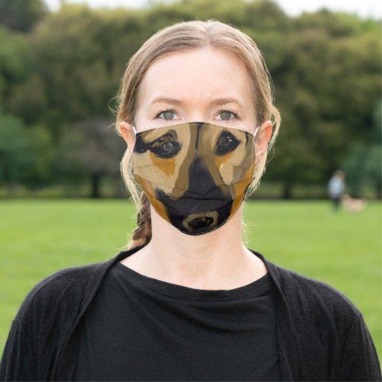 Emotional German Shepherd Painting Cloth Face Mask