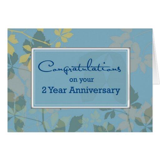 Employee Anniversary 2 Year Congratulations Greeting