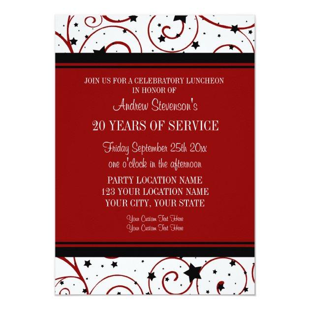 Employee Anniversary Luncheon Invitations Zazzle