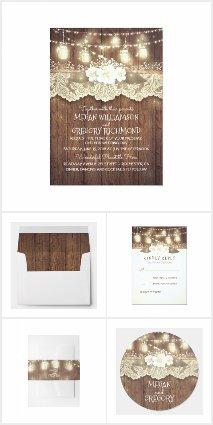 Enchanted Lights Mason Jar Barn Wedding Collection