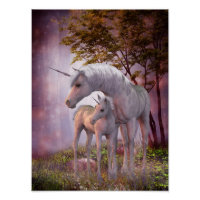 Enchanted Unicorns Poster