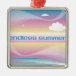 Endless Summer Pastels ornaments