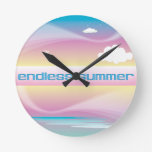 Endless Summer Pastels wall clocks
