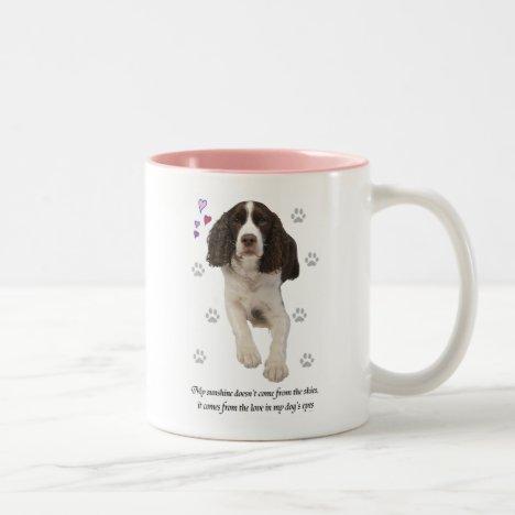 English Springer Spaniel Dog Two-Tone Coffee Mug