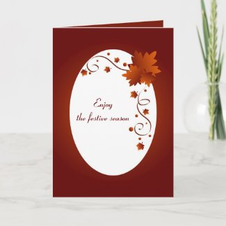 Enjoy the festive season - Card card