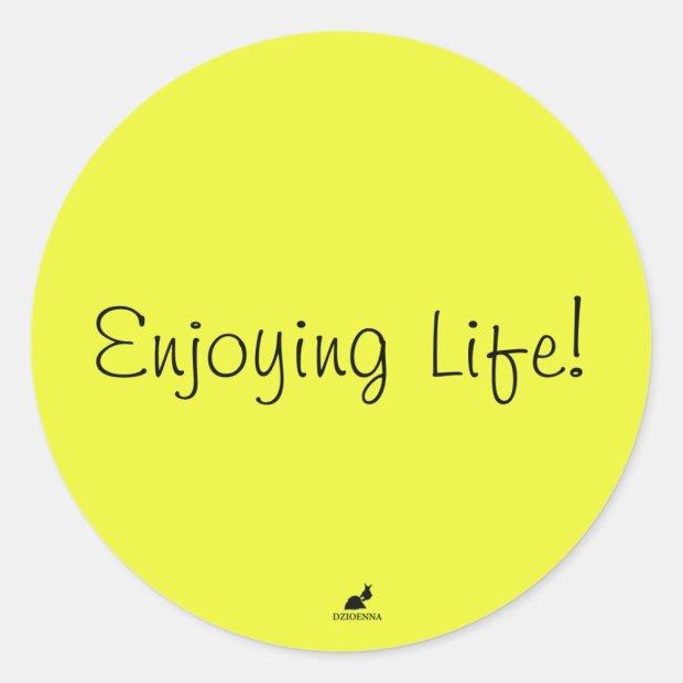 Enjoying Life! Stickers in Light Brilliant Yellow