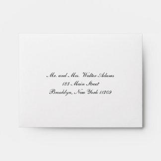 Envelope For Rsvp Card Wedding Invitation