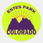 ESTES PARK COLORADO CLASSIC ROUND STICKER
