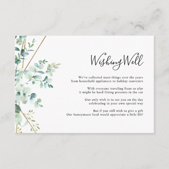 Eucalyptus Greenery Wishing Well Card