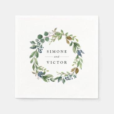 Eucalyptus Grove | Botanical Personalized Wedding Paper Napkin