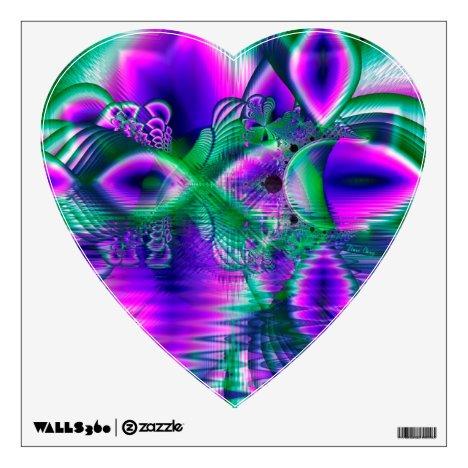Evening Crystal Primrose, Abstract Night Flowers Wall Sticker