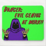 Danger Evil Genius At Work Mousepad