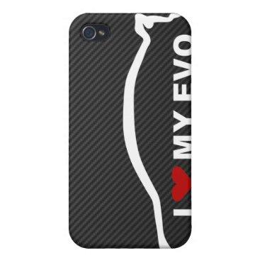 EVO - I Love my EVO iPhone 4 Case