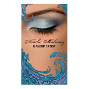 Exotic Floral Makeup Artist Business Card profilecard