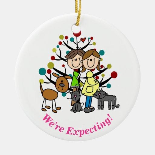 Expectant Couple Ornaments