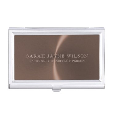 Extremely Important Rose Gold Business Card Holder