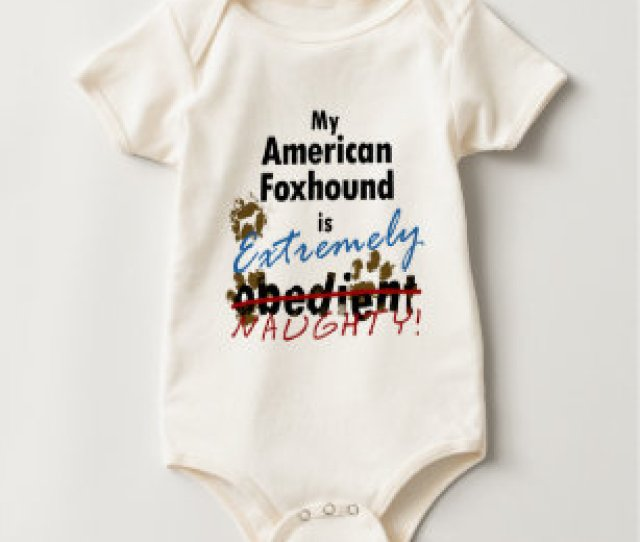 Extremely Naughty American Foxhound Baby Bodysuit