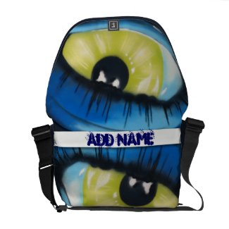 Eye Graffiti Messenger Bags