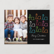 Fa La La Holiday Photo Card Postcard