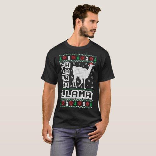 Fa La La La Llama Ugly Christmas Sweater Funny