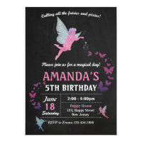 Fairies Birthday Invitation