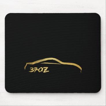 Fairlady 370z Gold Brush Stroke Logo Mouse Pad