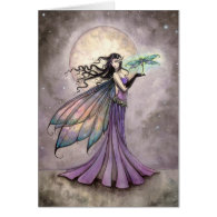 Fairy and Dragonfly Fantasy Art Card