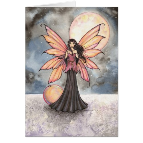 Fairy and Full Moon Fantasy Art