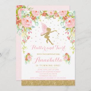 fairy birthday invitations zazzle