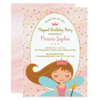 Fairy Princess Magical Birthday Party Invitation