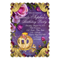 Fairy Tale Princess Birthday Party Card