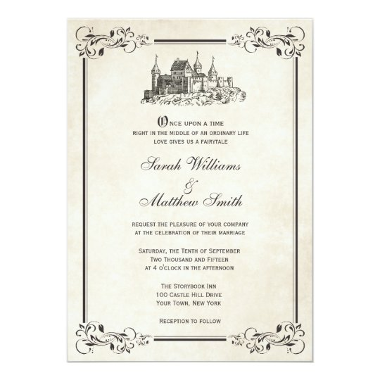 25pcs Fairy Tale Castle Wedding Invitations Card Vintage Decoration Birthday Party Business Invite Thank You Greeting Gift
