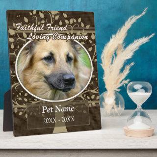 Faithful Friend Custom Pet Sympathy Plaque