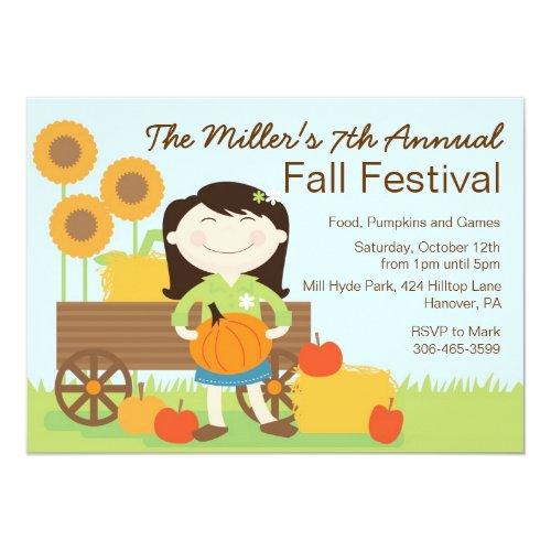 Fall Birthday Party Invitation
