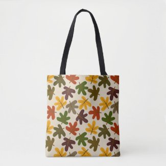 Fall Leaves Pattern Tote