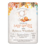 Fall Pumpkin and Elephant Baby Shower Invitation