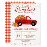 Fall Pumpkin Birthday Invitation autumn