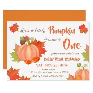 pumpkin birthday party invitations gifts fromaparrottsnest
