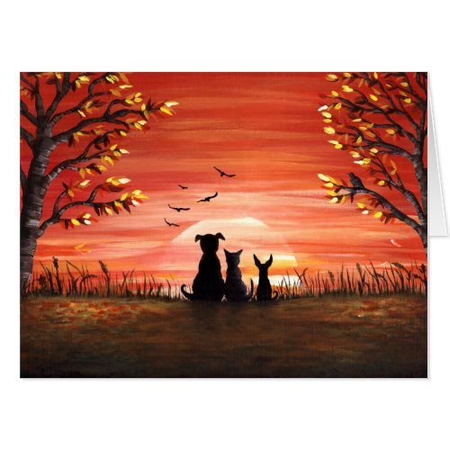 Fall Sunset Card