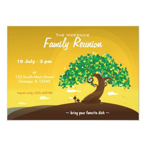 Family Reunion (Orange) Card