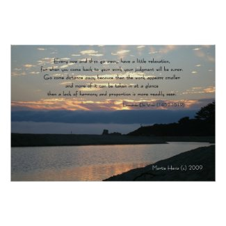 Famous Words: Relaxation - Carmel Sunset - Poster print