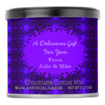 Fancy Dark Purple Artsy Design Hot Chocolate Drink Mix