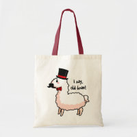 Fancy Llama Tote