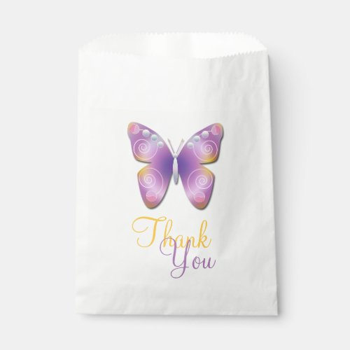 Fantasy Butterfly Personalized Favor Bags