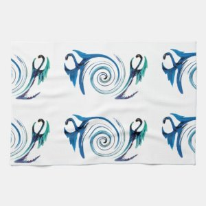 Fantasy Dragon Swirl Kitchen Towel