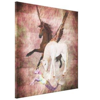 Fantasy Horses Canvas Print
