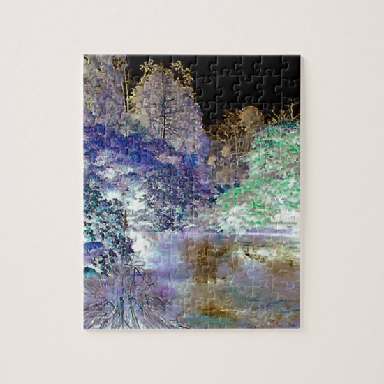 Fantasy Trees Abstract Landscape Jigsaw Puzzle