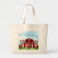 Farm animals large tote bag