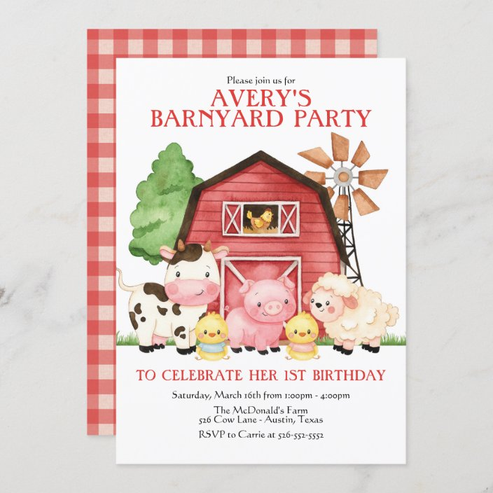 farm birthday invitation barnyard birthday invitation zazzle com