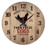 Farm Fresh 🥚🐓 Eggs Large Clock